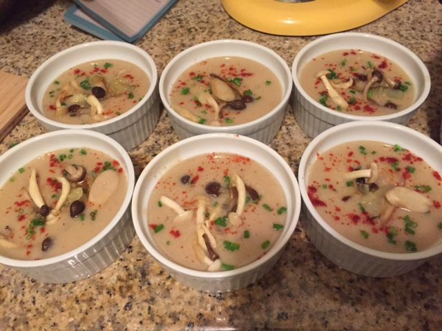 Cream of Sweet Onion Soup with SautéedMushrooms