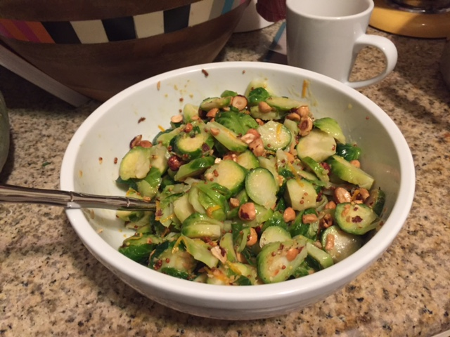 Brussel Sprout Salad with Filberts & Dijon Dressing